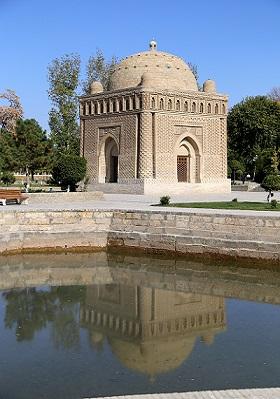 مشهد اسماعيل الساماني (892 -907)، بخارى. منظر عام