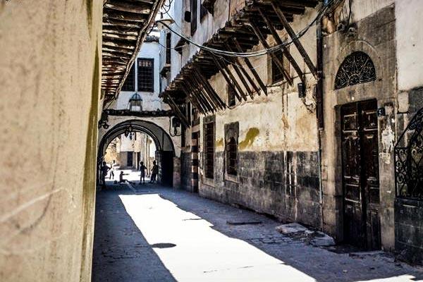 أحد أزقة دمشق القديمة
