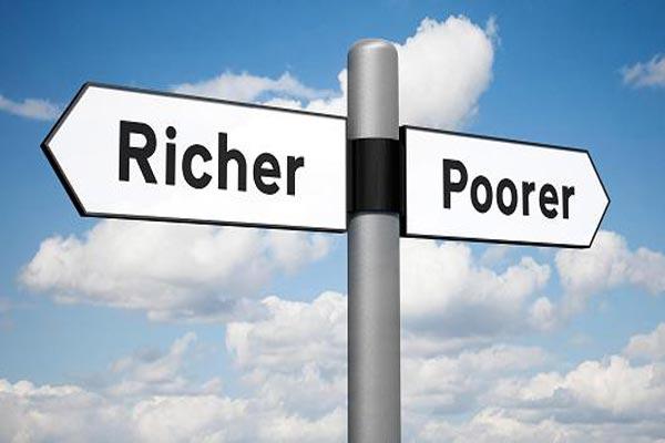 الاقتصادات الحديثة قائمة على المستويات العالية من اللامساواة