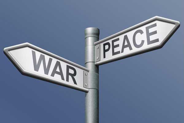 السلام والحرب... وسيلتان لتحقيق رغبات معينة