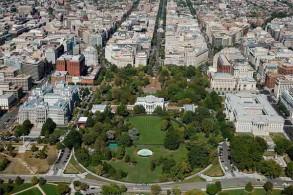 صورة ملتقطة من الجو للبيت الأبيض في العاصمة واشنطن