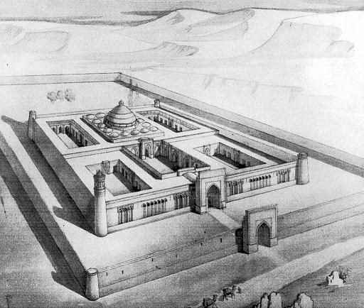 خان رباط الملك (1078 -9)، اقليم بخارى، بلاد ما وراء النهر، منظور.