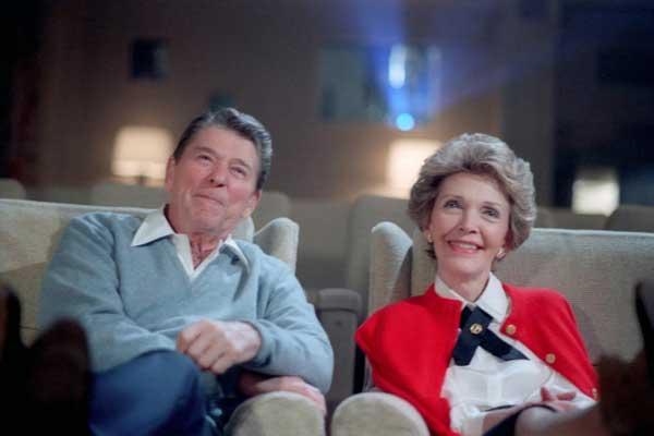 رونالد ريغان وزوجته، نانسي