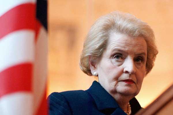 وزيرة الخارجية الأميركية السابقة مادلين أولبرايت