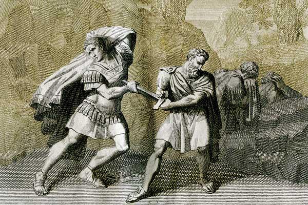 انتحر بروتوس إثر هزيمته