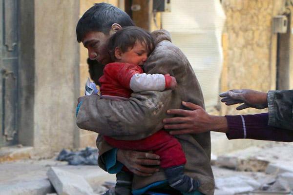 قصف ودمار النظام يتواصل وبراميله المتفجرة هدايا عيد الحب