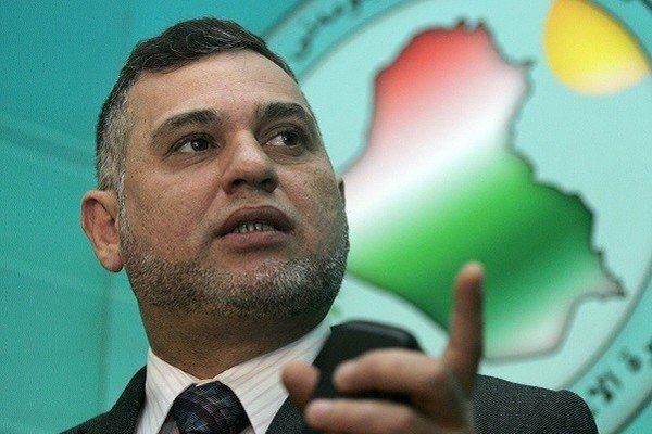 بهاء الاعرجي خلال مؤتمره الصحافي في بغداد