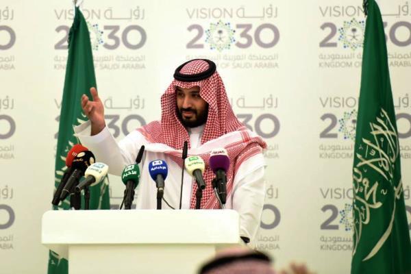 الأمير محمد بن سلمان لحظة اعلانه عن خطة