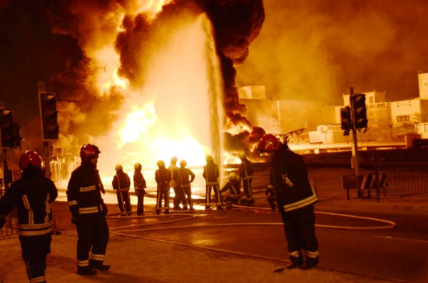 البحرين قالت إنّ حريق خط أنابيب النفط ناجم عن عمل تخريبي