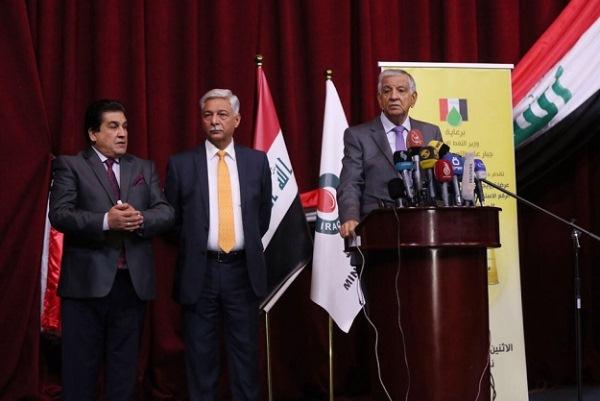 وزير النفط العراقي يطلق رسميا استثمار رقع نفطية وغازية على حدوده مع الكويت وايران