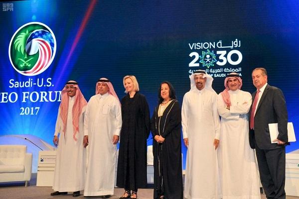 جانب من فعاليات أعمال منتدى الرؤساء التنفيذيين السعودي الأمريكي