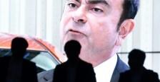 شاشة تبث برنامجها اخباريا عن رئيس مجلس ادارة نيسان كارلوس غصن