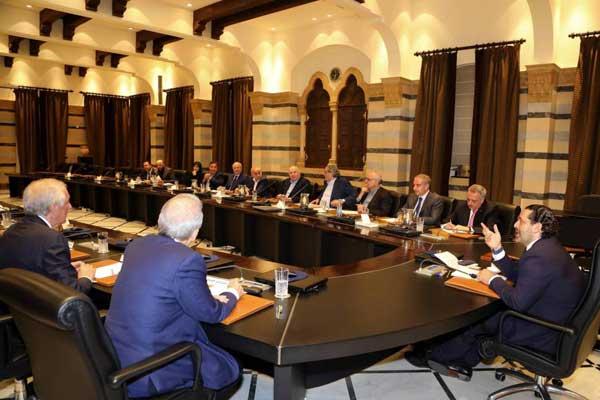 مجلس الوزراء اللبناني ملتئمًا في إحدى جلسلات السابقة
