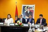 إدريس الكراوي رئيس مجلس المنافسة المغربي متحدثاً في اللقاء الصحافي الذي عقده اليوم في الرباط
