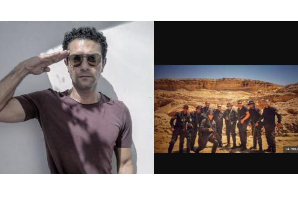 تحية عسكرية من آسر ياسين لشهداء الواحات