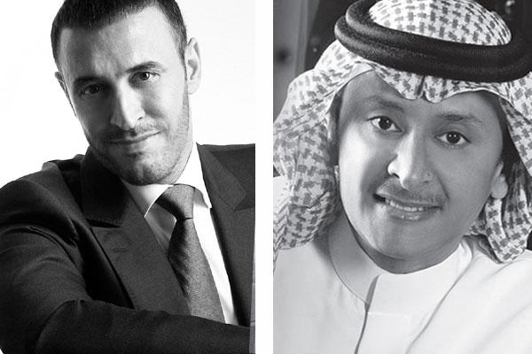 عبدالمجيد عبدالله وكاظم الساهر