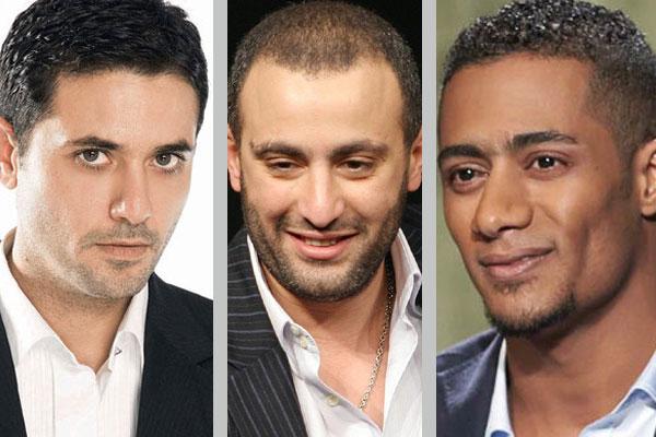 أحمد السقا يتوسط محمد رمضان وأحمد عز