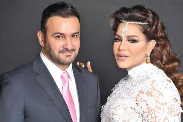 أحلام وزوجها القطري مبارك الهاجري
