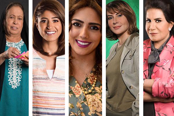 خمسة نجمات في الدراما الخليجية