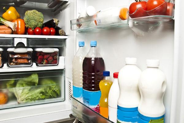 المواد الغذائية على تنوعها في الثلاجة