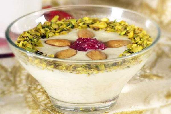 حلاوة الأرز مع الزينة