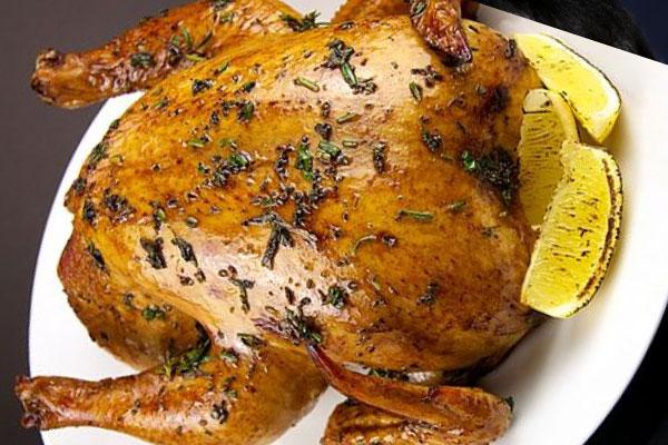 الدجاج المشوي على الطريقة التقليدية