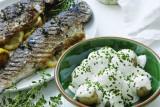سمك السلمون المرقط المشوي