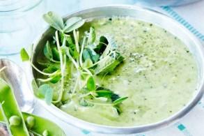 حساء البازيلاء البارد