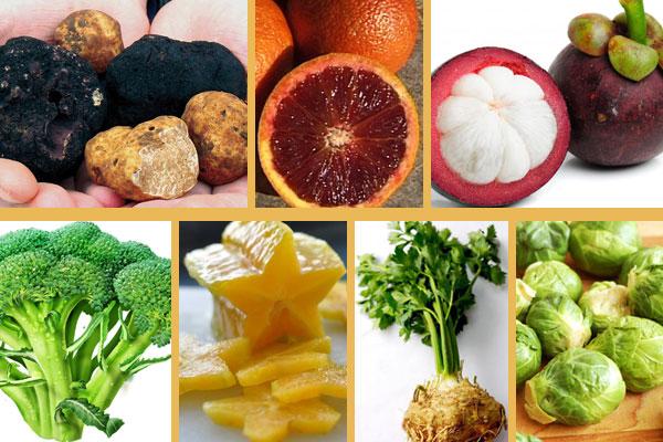 أنواع من الفاكهة والخضَر المميزة في موسم الشتاء