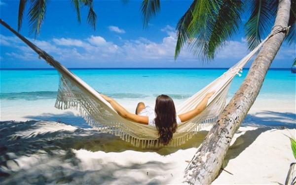 على شاطئ الكاريبي
