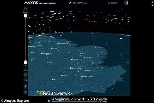 تطبيق جديد لمراقبة حركة الطيران في سماء الكرة الأرضية