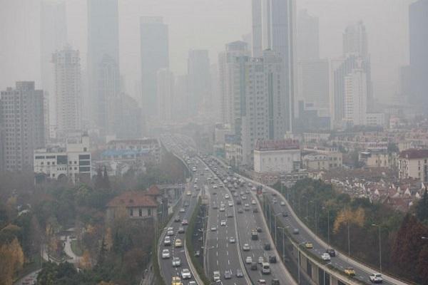 آثار تلوث الهواء في العاصمة الصينية بكين