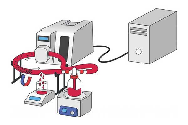 تخطيط لدورة الدم الاصطناعية التي استحدمها العلماء في التجارب