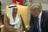 الرئيس الأميركي مستقبلا أمير الكويت في البيت الأبيض