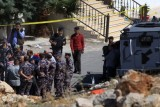 لقطة من المداهمة الأمنية في السلط الأردنية في أغسطس