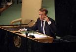 الرئيس الفرنسي متحدثا أمام الجمعية العامة للأمم المتحدة