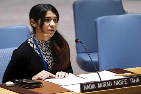 نادية مراد تتحدث في الأمم المتحدة عن مأساة الأيزيديات في قبضة داعش