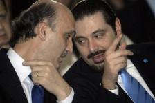 سعد الحريري (يمين) وسمير جعجع