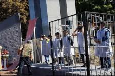 متظاهرون في لاهاي يشخّصون عمليات إعدام الناشطين السياسيين في إيران