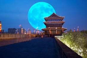 مضاعفة ضوء القمر الحقيقي في الصين