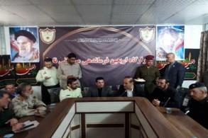 وزير الداخلية العراقي قاسم الأعرجي خلال اجتماعه بمحافظ إيلام في جنوب غرب إيران