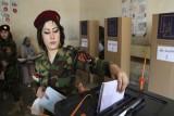 عسكرية كردية تصوت في انتخابات اقليم كردستان