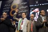 سعد الدين العثماني يتوسط قادة حزب العدالة والتنمية المغربي