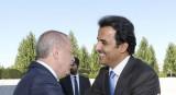 الرئيس التركي مستقبلا أمير قطر