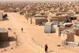 لاجئون صحراويون في مخيمات قرب مدينة تندوف