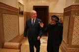 نتانياهو خلال اللقاء مع السلطان قابوس في سلطنة عمان
