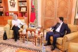 موغريني خلال لقاء مع وزير الخارجية والتعاون الدولي المغربي ناصر بوريطة