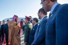 استقبال ولي العهد السعودي بعد وصوله إلى بكين