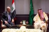 الرئيس صالح مجتمعًا مع الملك سلمان