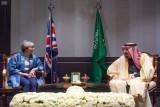 لقاء خادم الحرمين الشريفين مع رئيسة وزراء بريطانيا